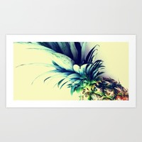 Tall pineapple Art Print by Yilan