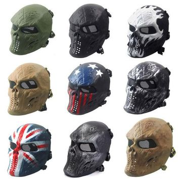 DCCKL3Z Airsoft Paintball Full Face Skull Skeleton CS Mask Tactical Military Halloween  Free Shipping