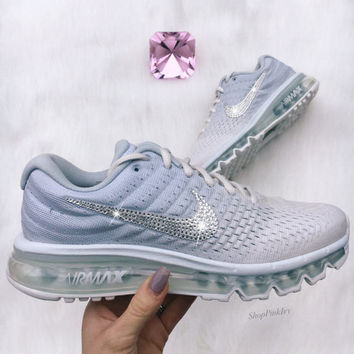 2017 Swarovski Nike Air Max Running Shoes Customized With Swarovski Crystals 5eab2a760bcc