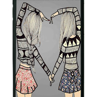 BFF Best Friends Forever Aztec Pattern iPhone 6 plus Cases - Hard Plastic, Rubber Case