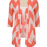 dubarry chevron stripe hacci cardiwrap