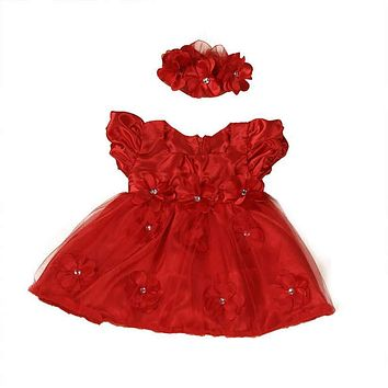 Girls dress summer baby cute dress Flower Girls Toddler Baby Princess Pageant Lace Dresses with high quality AP19
