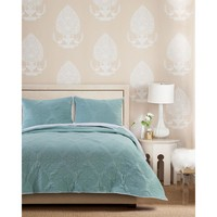Cameo Blue 3-Piece King Quilt Set