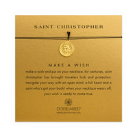 Saint Christopher Charm on Silk, Gold Dipped | Dogeared