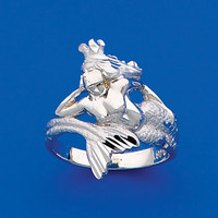 Sterling Silver Mermaid wrap ring.