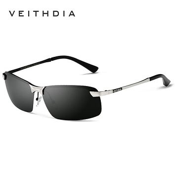 VEITHDIA 2017 New Brand 3043 Polarized Sunglasses Men Aluminum Alloy Frame Sunglass Driving Glasses Goggles Eyeglasses
