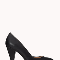 FOREVER 21 Classic Faux Leather Pumps Black 5.5