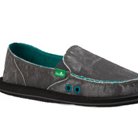 Sanuk Donna Distressed Dark Charcoal Sidewalk Surfers