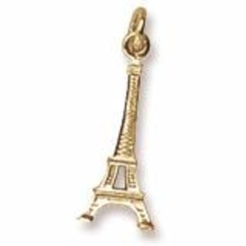 Eiffel Tower Charm In Yellow Gold
