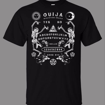 T-Shirt 2017 Fashion Men Men Casual T Shirt Tops Tee Ouija Board Skeletons Brand Clothing T-Shirts Short Sleeve Brand