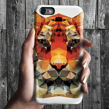 Geometric Polygon Triangle Tiger iPhone 6/6S, 6 Plus Case 4S, 5S, Galaxy Cover. Mobile Phone Cell. Gift Idea. Birthday gift. For Him, Her
