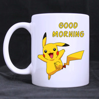 Pikachu Good Morning Pokemon Mug 11 oz