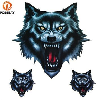 Skull Skulls Halloween Fall Vinyl Wolf Head Decals  Head Fire Flame Funny Self-adhesive Sticker for Motorcycle Car Door Stickers Truck Helmet Decor Calavera