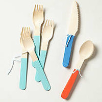 Anthropologie - Colorblock Picnic Utensils