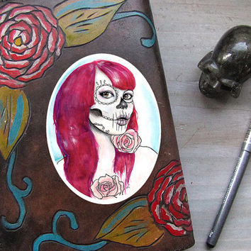 Rosebud Sticker - Day of the Dead Decal