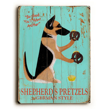 Shepherds Pretzels by Artist Ken Bailey Wood Sign