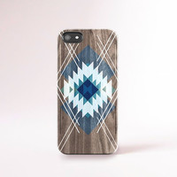 Navy iPhone 6 Case Wood Print Southwestern iPhone Case Mens iPhone Case Tribal iPhone Case Wood iPhone 6 Plus Case Blue Mens Accessories