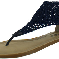 Lucky Brand Cropley Women's Crochet Thongs Sandals Shoes