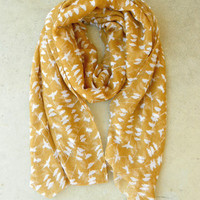 On a Perch Scarf in Harvest [3242] - $14.00 : Vintage Inspired Clothing & Affordable Fall Frocks, deloom | Modern. Vintage. Crafted.