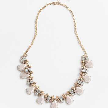 Mariella Lavender Teardrop Statement Necklace