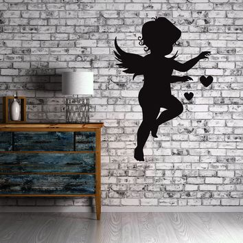 Cupid Love Angel Heart  Positive Love  Wall Art Decor Vinyl Sticker Unique Gift z499