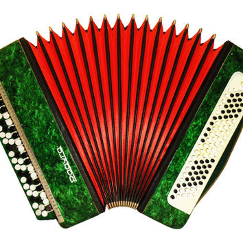 Russian Rainbow, 100 Bass, Button Bayan, Accordion Instrument, 506