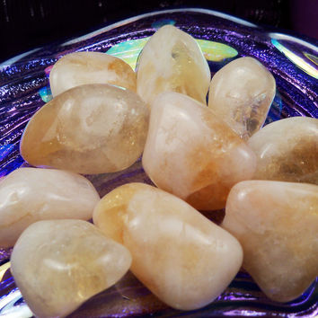 CITRINE Success Stone, Good Luck Stone Money Talisman Confidence Solar Plexus Crystal