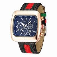 Gucci watch with square watch - a watch that makes you unique Best Gift Black+Blue dial