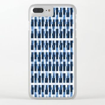 Blue Pixelated Pattern by ARTbyJWP