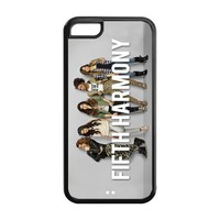Mystic Zone Hot Girl Groups Fifth Harmony Cover Case for iPhone 5C -(Black and White) -MZ5C00736