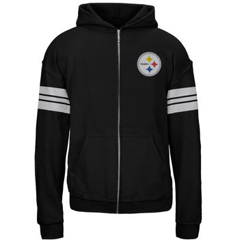 Pittsburgh Steelers - Sport Stripes Foil Team Girls Youth Zip Hoodie