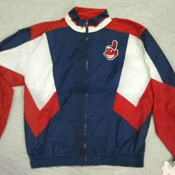 CLEVELAND INDIANS RETRO STARTER YOUTH FULL ZIP WINDBREAKER