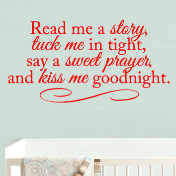 rvz941 Wall Vinyl Sticker Bedroom Decal Words Sign Quote Read Me Story