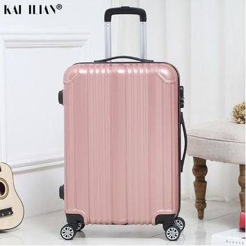 New hot suitcase carry-on Unisex travel Spinner rolling luggage on wheels 20/22/24 inch Cabin trolley