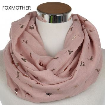 Gold Pink Cat Scarf