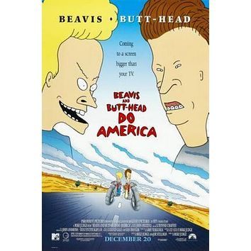 Beavis And Butthead Movie Poster Standup 4inx6in