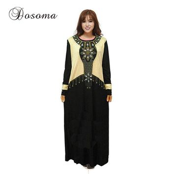 Islamic Women Cotton Maxi Dress Muslim Abaya Burka Indian Robe Kimono Vestidos Kaftan Instant Hijab Turkey Arab Prayer Clothing