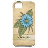 Blue Daisy iPhone 5 Covers from Zazzle.com