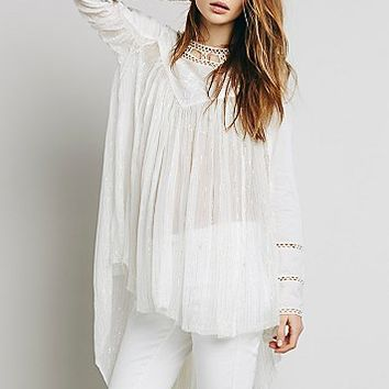 Free People Womens Lurex Golden Age Tunic
