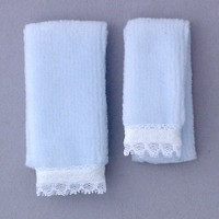 1:12 Scale Bathroom Towel Set, Blue, 1 bath, 1 hand #FCA0054