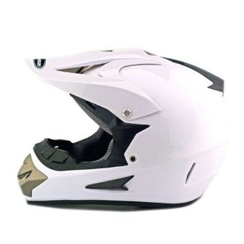 Motorcycle Motor Bike Scooter Safety Helmet white