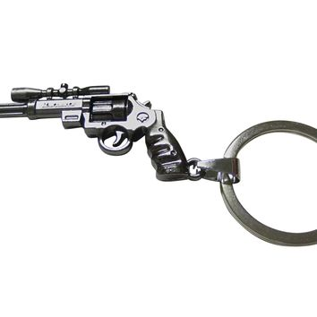 Scoped Handgun Pendant Keychain