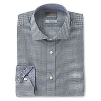Thomas Dean Long-Sleeve Geometric-Print Woven Shirt - Blue