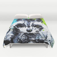 RACCOON Duvet Cover by Maioriz Home