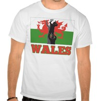 Rugby lineout throw Wales flag Tee Shirts