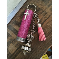 Hot Pink 12 Gauge Shotgun Shell Keychain
