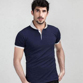 Summer Men Short Sleeve Tops Men's Fashion Cotton T-shirts [6544069123]