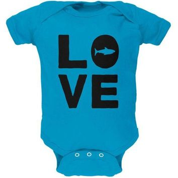 LMFCY8 Shark Love Soft Baby One Piece