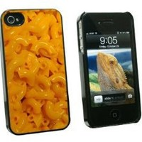 Graphics and More Mac N Cheese - Macaroni and - Snap On Hard Protective Case for Apple iPhone 4 4S - Black - Carrying Case - Non-Retail Packaging - Black