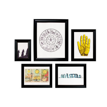 Gallery Wall Collage 5 Prints Framed Wall Hangings - Earth Set